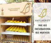 Incubadora para 60 huevos de gallina, codorniz. Automática
