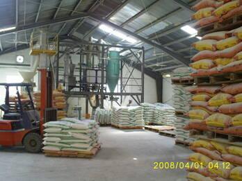 Planta para proceso de harinas impalpables, con bajo contenido de grasa.