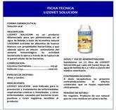 LIZOVET SOLUCION es un producto a base de la enzima natural LISOZIMA extraída de albumina de huevos