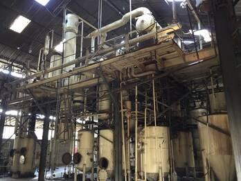 Extracción disolvente completa de capacidad 500 toneladas / día