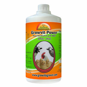 Growvit Power is An Strongest & Most Powerful Vitamin AD3E,which gives immediate result in Cattle and Poultry.