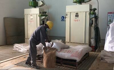 The points of dust generation in feed processing workshop