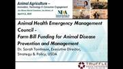 Farm Bill Funding for Animal Disease Prevention Management