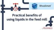 Benefits of Using liquids in the feed mill
