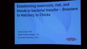 Establishing Reservoirs, Risk and Trends in Bacterial Transfer - Breeders to Hatchery to Chicks