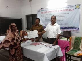 Certification of sheep farmer training program at RU Narikelbaria veterinary clinic,AI and Training center