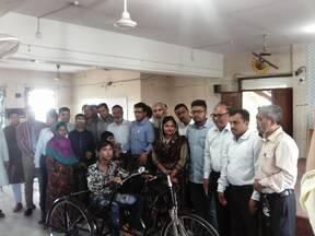 Three wheelers distribution to autistic children at Rajshahi City