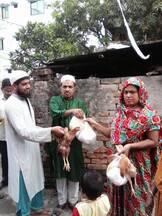 Eid gifts distribution to laggard