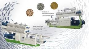 Processing and application of extruded sinking fish feed