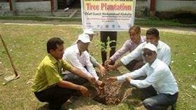 Tree plantation on world veterinary day-14