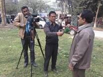 Television Media talk about recent nature crisis in Rajshahi, Bangladesh