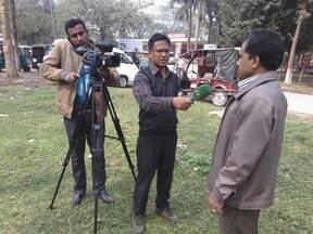 Television Media talk about recent nature crisis in Rajshahi, Bangladesh