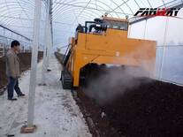 Compost Windrow Turner Working for Organic Fertilizer Compost