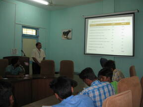 """Lecture on """"Animal Feed Quality"""" was delivered to the trainees"""