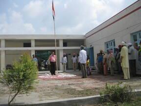 National Anthem was being sung at ICAR-CIRB, sub campus, Nabha