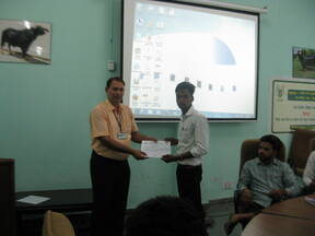 Certificates being given to trainees