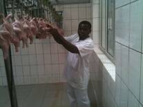 Processing of chicken in Cameroon
