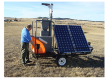 Solar powered GreenFeed for pasture measurements