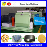 chicken feed hammer mill for sale with 1-20T/H capacity