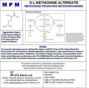 METHIONINE REPLACEMENT BY DFM