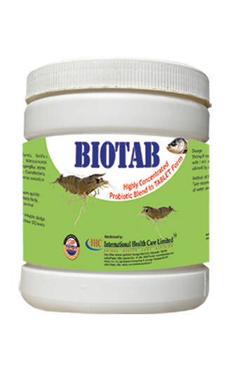 BIOTAB- TABLET - PROBIOTIC FOR SOIL & WATER QUALITY IMPROVER IN AQUACULTURE-IHCL-PVS  GROUP