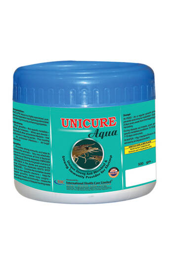 UNICURE AQUA - HERBAL DISEASE CONTRILLER  FOR SHRIMP/ FISH -IHCL-PVS GROUP