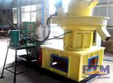 Before and After the Feeding of Sawdust Pellet Mill