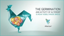 The germination and activity of Alterion® is now visible inside birds