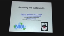 Rendering and Sustainability conference at IPPE 2015. D. Meeker (National Renderers Association)