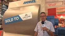 Optimix launchment at VICTAM 2015. Christian Andersen (ANDRITZ)