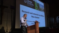 Research and extension on alfalfa in New Zealand. Derrick Moot (Lincoln University)